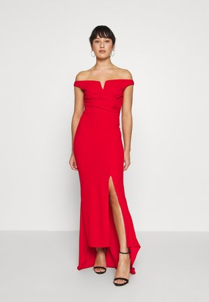 PETITE BARDOT MAXI DRESS - Iltapuku - red