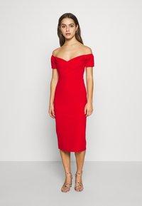 WAL G PETITE - BARDOT DRESS - Sukienka koktajlowa - red - 0