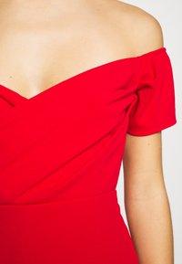 WAL G PETITE - BARDOT DRESS - Sukienka koktajlowa - red - 4
