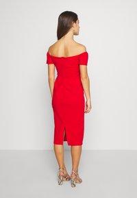WAL G PETITE - BARDOT DRESS - Sukienka koktajlowa - red - 2