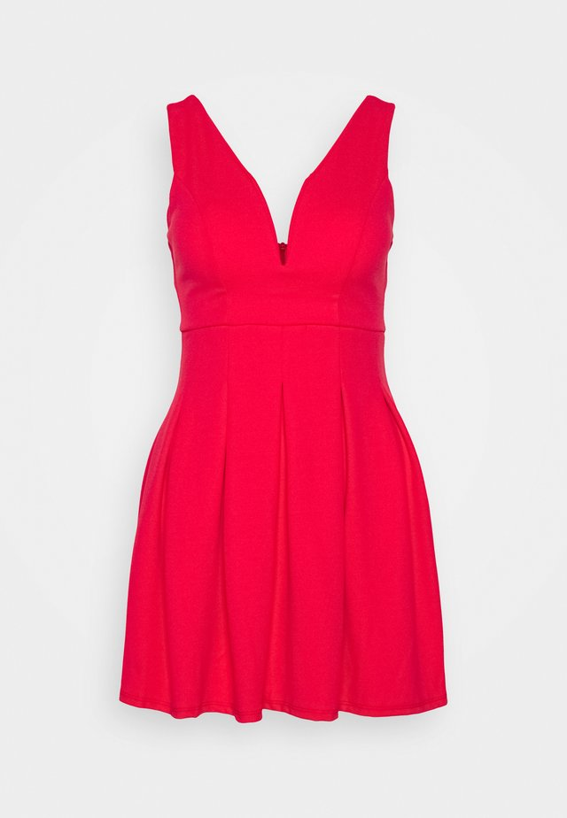 Jersey dress - coral