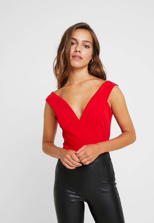 BARDOT BODYSUIT - Linne - red