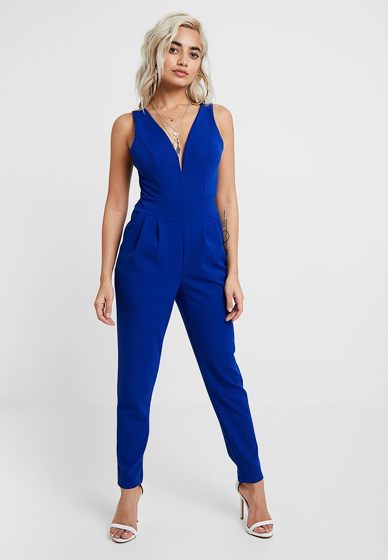 WAL G PETITE - EXCLUSIVE V NECK - Jumpsuit - cobalt blue
