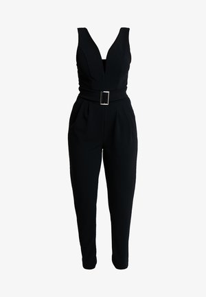 EXCLUSIVE BUCKE V NECK - Jumpsuit - black