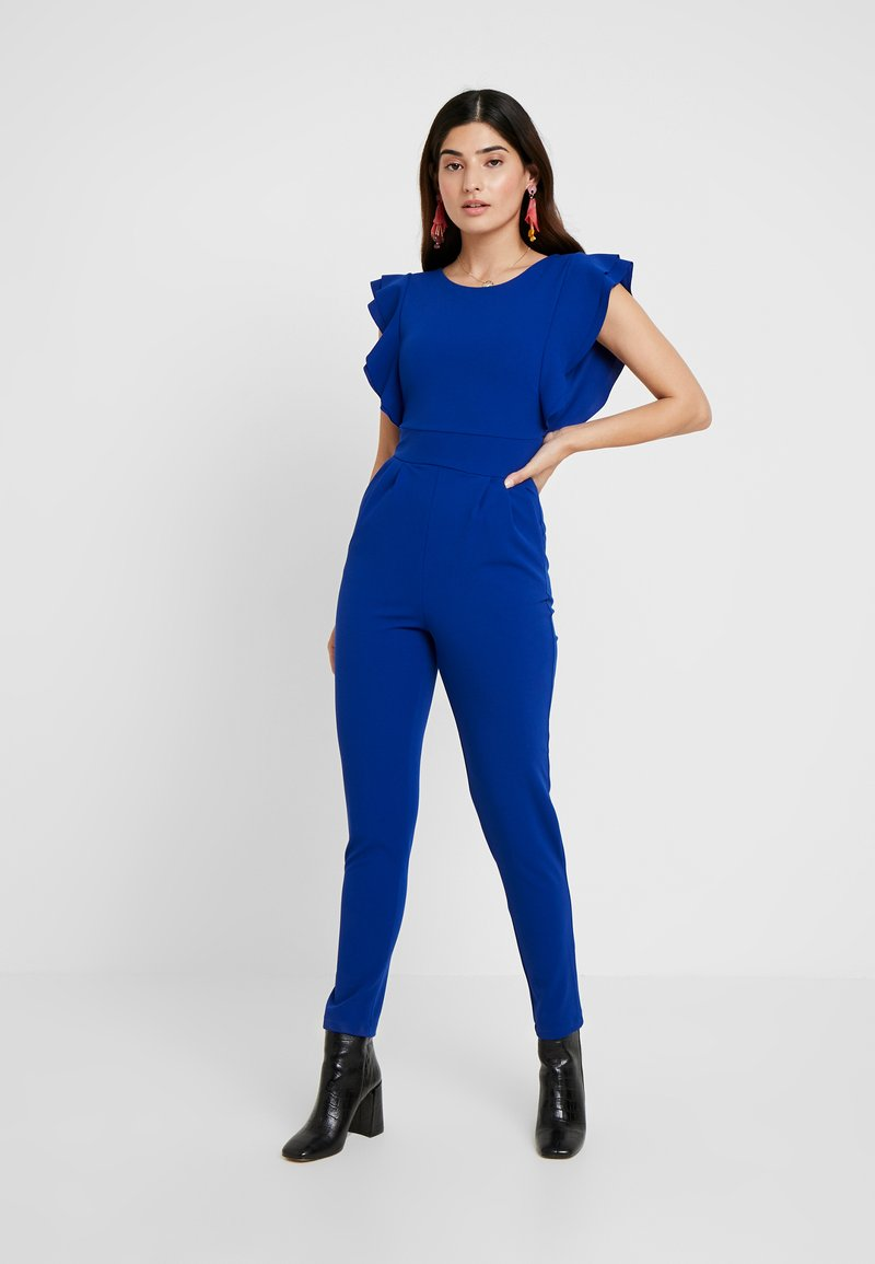 WAL G PETITE - RUFFLE - Jumpsuit - cobalt