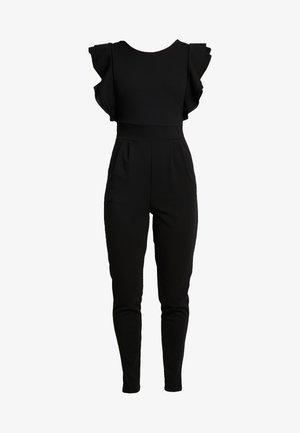 RUFFLE - Jumpsuit - black