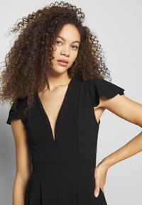 WAL G PETITE - FRILL SHOULDERS V NECK - Tuta jumpsuit - black - 3