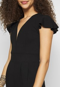 WAL G PETITE - FRILL SHOULDERS V NECK - Tuta jumpsuit - black - 5