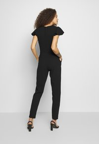 WAL G PETITE - FRILL SHOULDERS V NECK - Tuta jumpsuit - black - 2