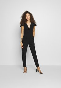 WAL G PETITE - FRILL SHOULDERS V NECK - Tuta jumpsuit - black - 1