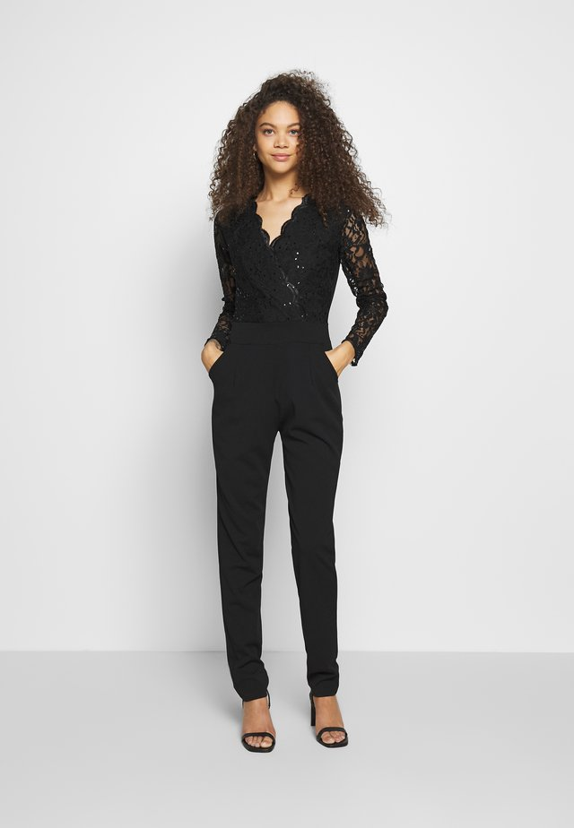 LONG SLEEVES - Overall / Jumpsuit - black