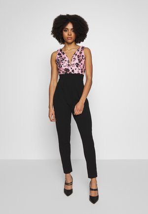 PRINTED TOP - Mono - black/pink