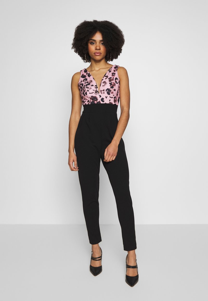 WAL G PETITE - PRINTED TOP - Overall / Jumpsuit - black/pink