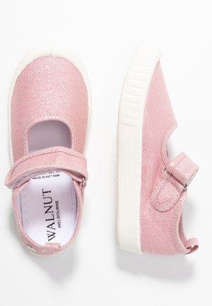 CLASSIC - Ankle strap ballet pumps - metallic blush