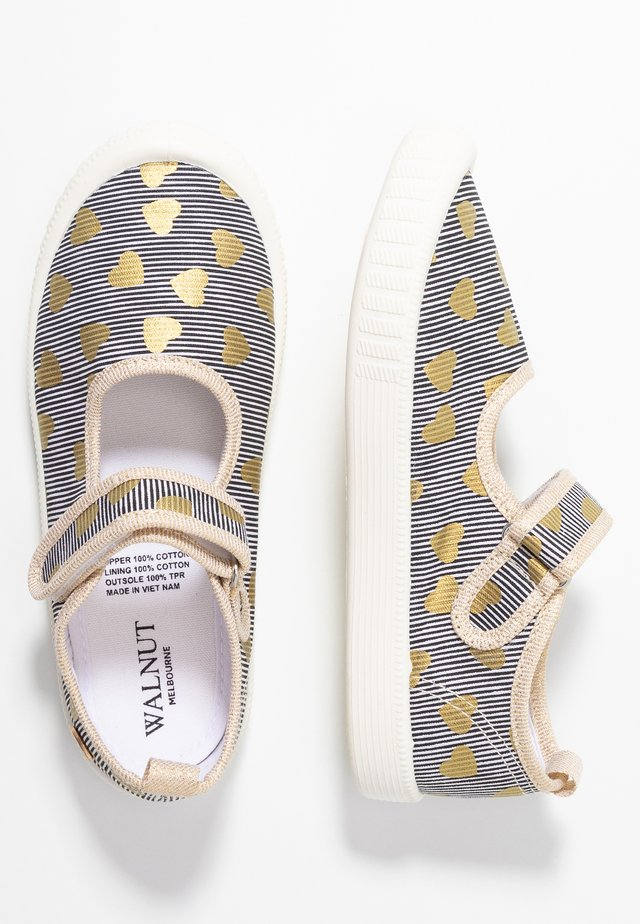 CLASSIC - Ankle strap ballet pumps - dark blue