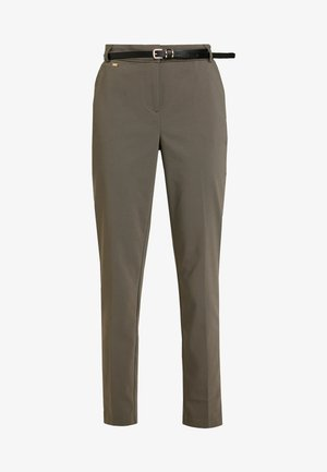 DOUBLE FACED CIGARETTE TROUSER - Bukse - khaki