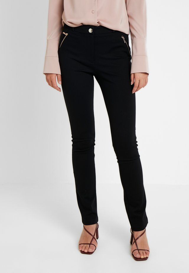 PONTE TROUSER - Trousers - black