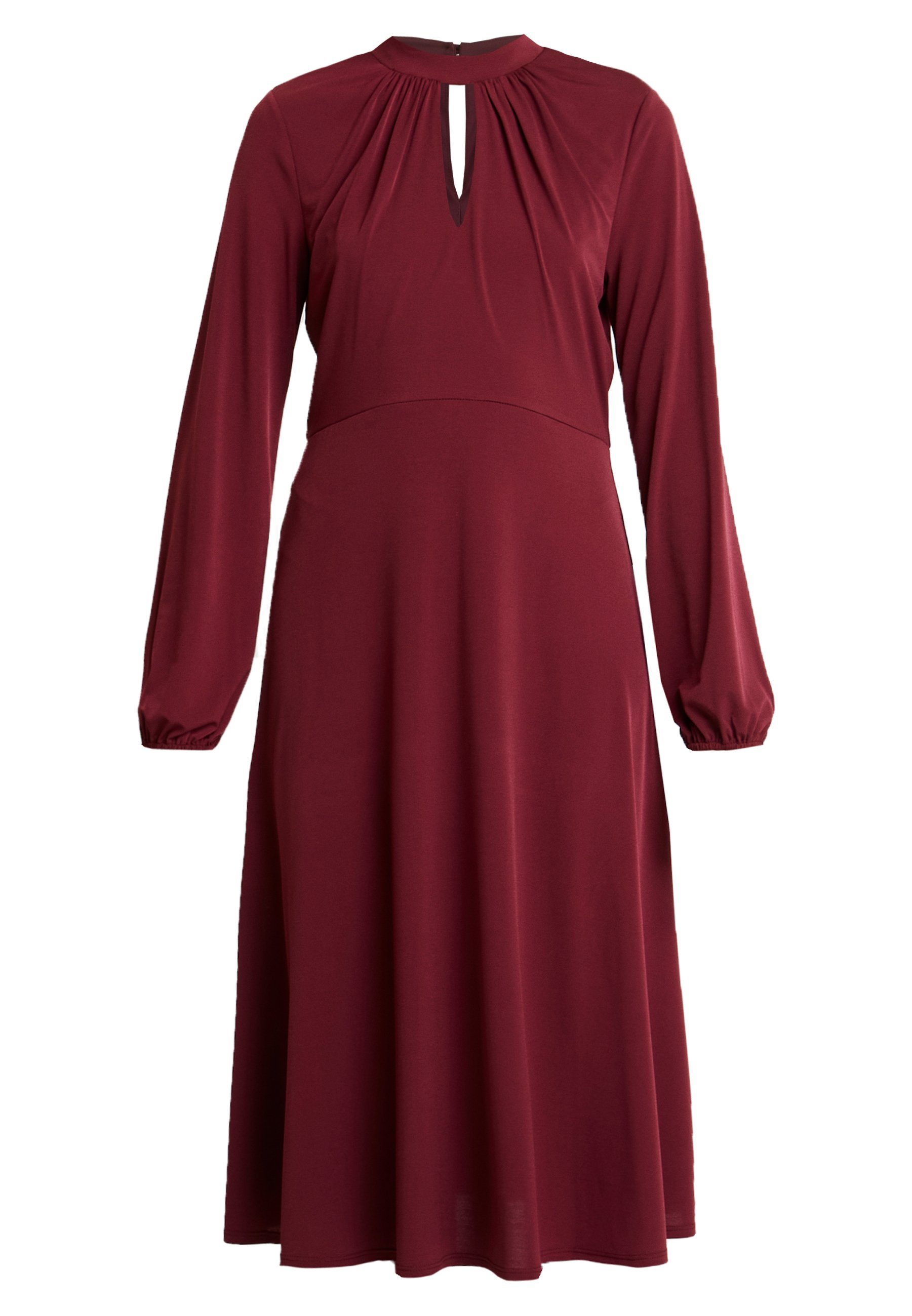 Wallis Tall High Neck Keyhole Dress - Jersey Purple
