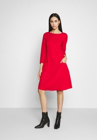 Wallis Tall - BUCKET POCKET SWING DRESS - Jersey dress - red - 1