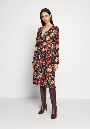 TALL ORIENTAL TAPESTRY DRESS - Jerseykjole - black