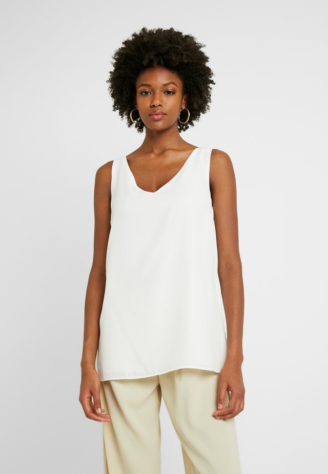 V NECK - Blouse - ivory