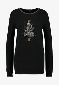 Wallis Tall - SWIRL CHRISTMAS TREE JUMPER - Jumper - black - 4