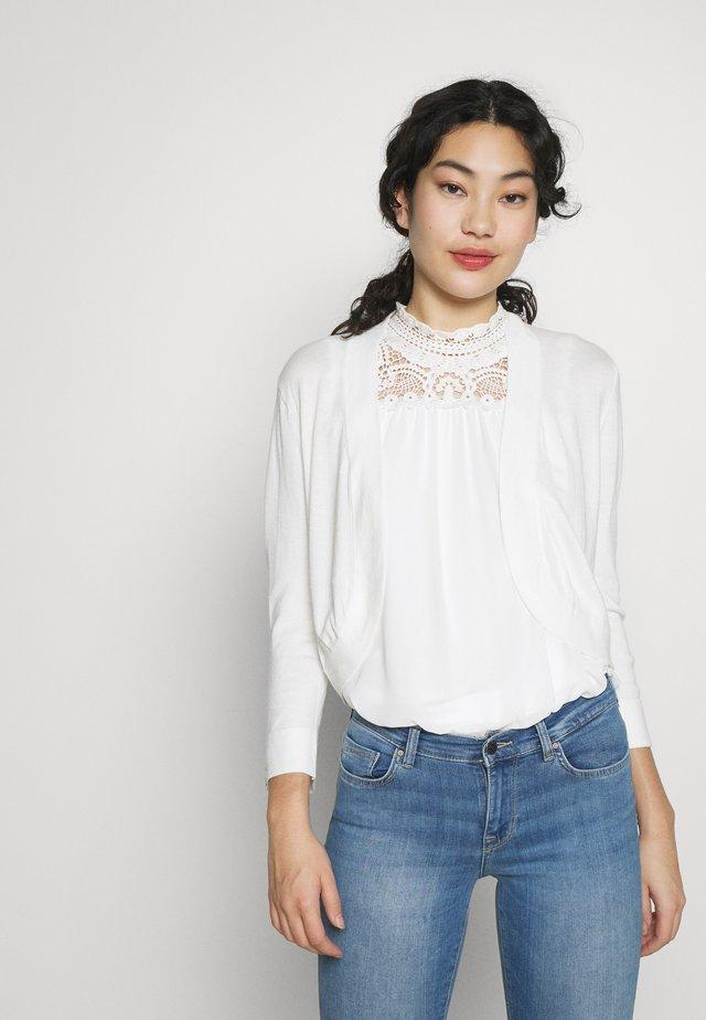 CURVE HEM BOLERO - Vest - white
