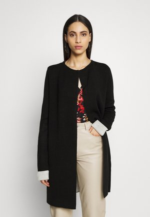 DOUBLE FACED COATIGAN - Cardigan - black