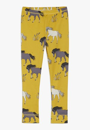 Leggings - Trousers - dark yellow