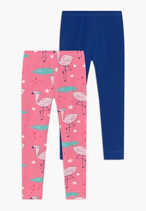 CUTE FLAMINGO 2 PACK - Leggings - pink/dark blue
