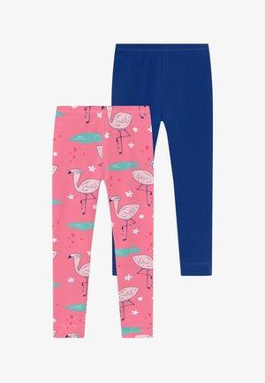 CUTE FLAMINGO 2 PACK - Leggings - Trousers - pink/dark blue