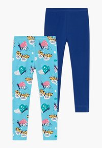 Walkiddy - FUNNY BUTTERFLIES 2 PACK - Leggings - Trousers - turquoise/dark blue - 0