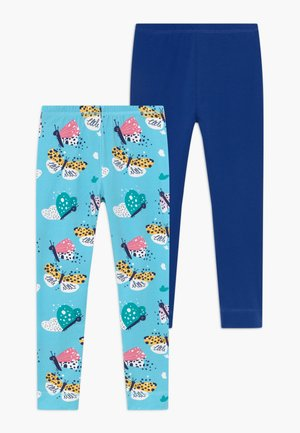 FUNNY BUTTERFLIES 2 PACK - Leggings - Trousers - turquoise/dark blue