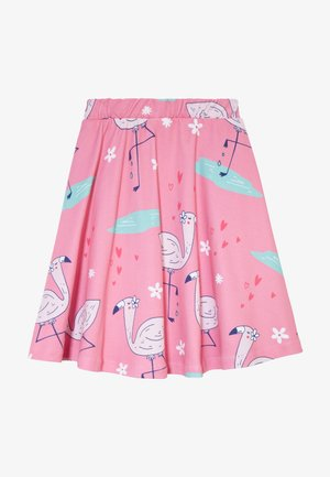 CUTE FLAMINGO SKIRT - Gonna a campana - pink