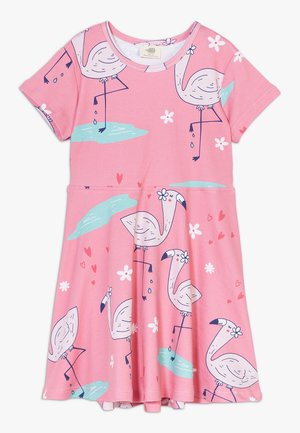CUTE FLAMINGO DRESS - Jersey dress - pink