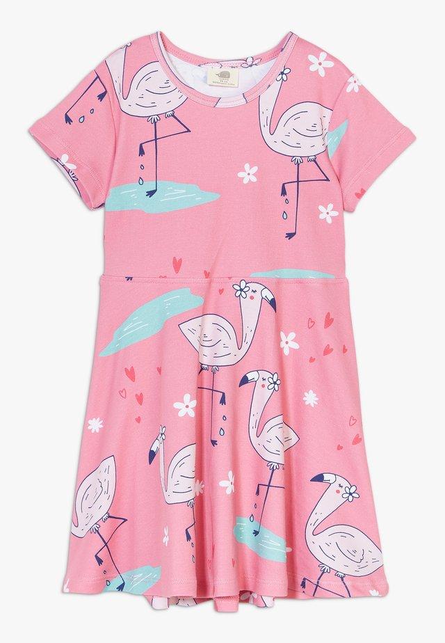 CUTE FLAMINGO DRESS - Jerseyjurk - pink