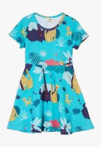 Walkiddy - TROPICAL LEOPARDS - Jersey dress - blue - 0