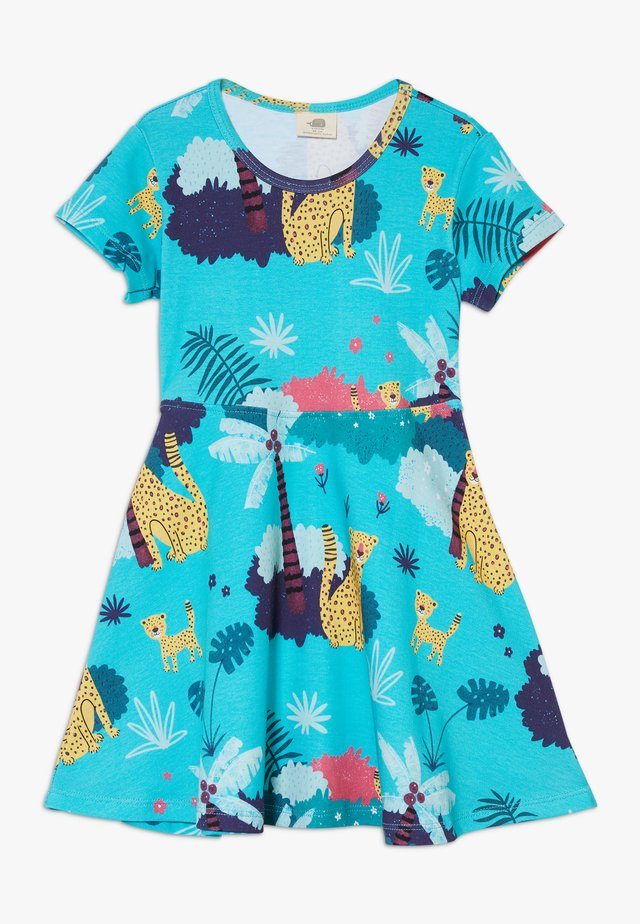 TROPICAL LEOPARDS - Jersey dress - blue