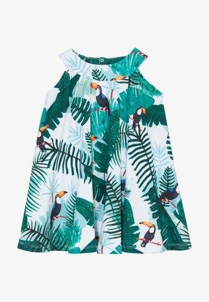 TROPICAL TUCANS FLARED DRESS - Korte jurk - green
