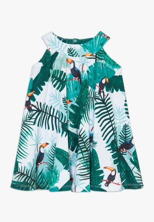 TROPICAL TUCANS FLARED DRESS - Day dress - green