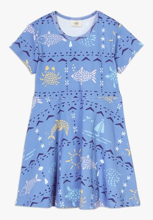 MOSAIC ANIMALS DRESS - Vestido ligero - blue