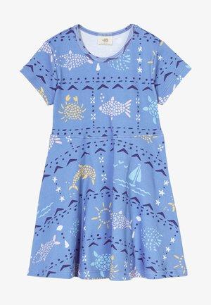 MOSAIC ANIMALS DRESS - Jersey dress - blue