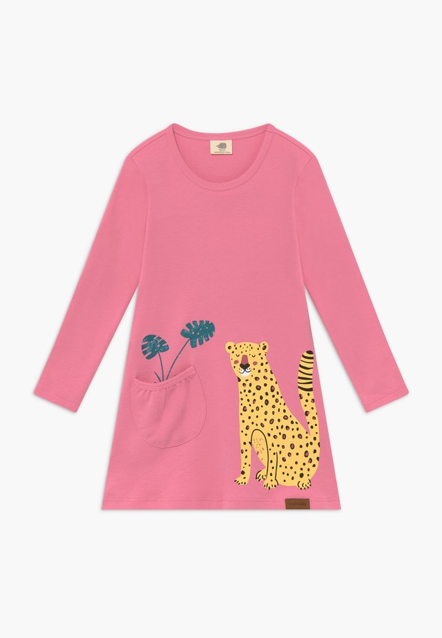 TROPICAL LEOPARDS TUNIC DRESS - Jerseykleid - pink