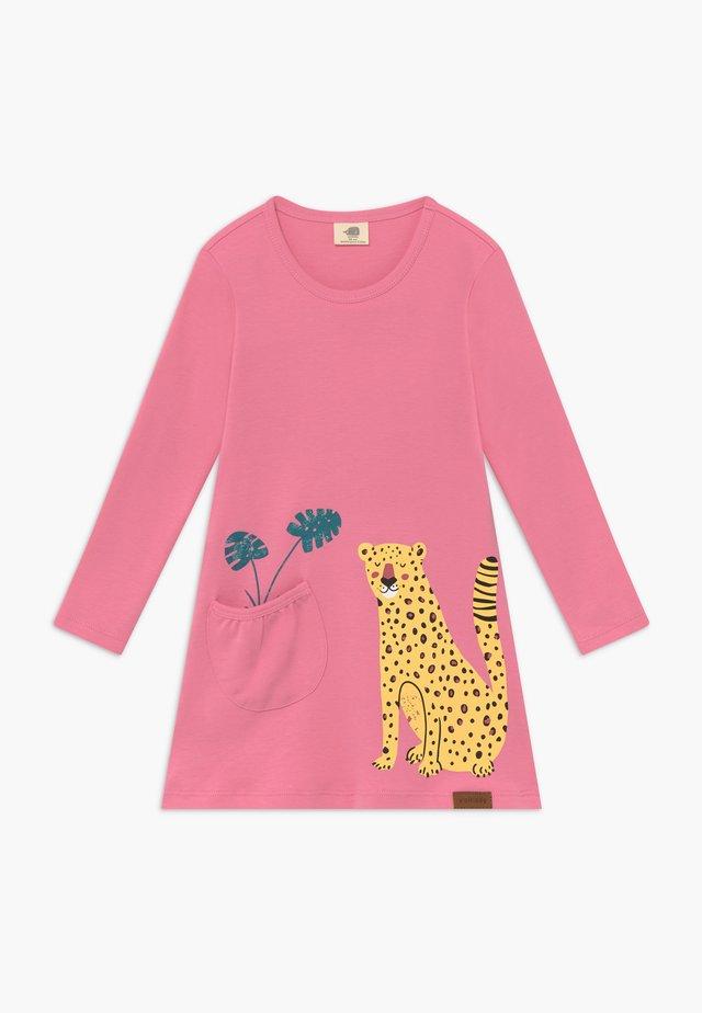 TROPICAL LEOPARDS TUNIC DRESS - Jerseyjurk - pink