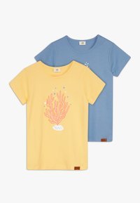 Walkiddy - SEAHORSES PLACEMENT 2 PACK - T-shirt con stampa - blue/yellow - 0