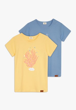 SEAHORSES PLACEMENT 2 PACK - Print T-shirt - blue/yellow