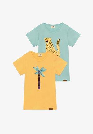 TROPICAL LEOPARDS PLACEMENT 2 PACK - T-shirt imprimé - green/yellow