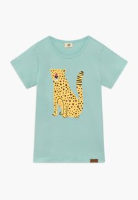 Walkiddy - TROPICAL LEOPARDS PLACEMENT 2 PACK - Print T-shirt - green/yellow - 2