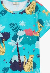 Walkiddy - TROPICAL LEOPARDS 2 PACK - Print T-shirt - blue/yellow - 5