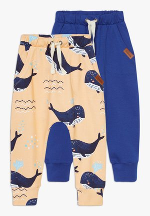 LITTLE WHALE BAGGY 2 PACK - Trousers - orange/dark blue
